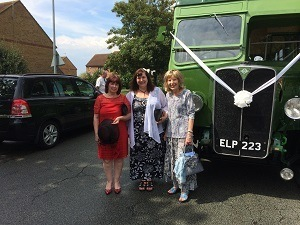Grace, Beverly and Win at Anne's wedding